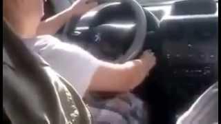 Trabzonlu Dede Torununa Araba Kullanmayı Öğretirse :-)